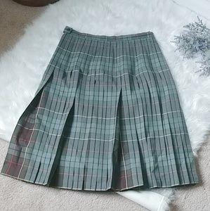 Pendleton reversible wool pleated plaid skirt